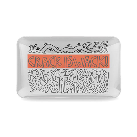 K. Haring Glass - Rolling Tray - Crack is Wack