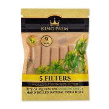 Load image into Gallery viewer, King Palm 5pk Corn Husk Filters - 9mm - 24ct