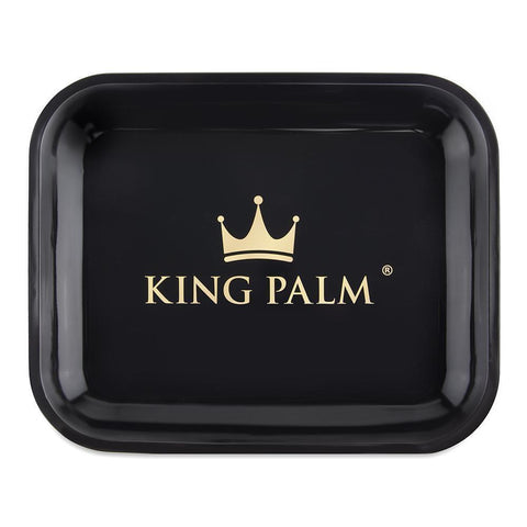 King Palm Rolling Tray - Black