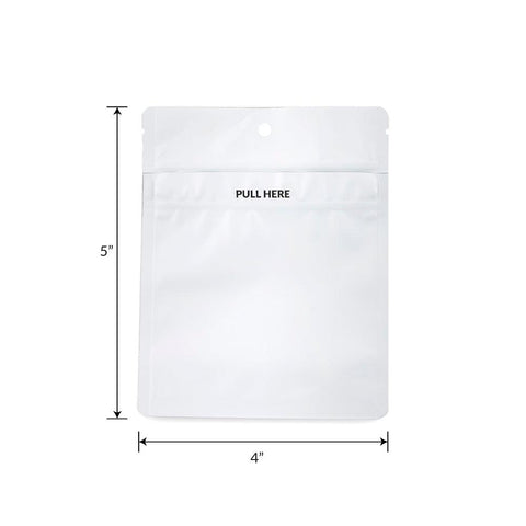 Loud Lock Grip N Pull Mylar Bags - 1/8 - 1000ct - White