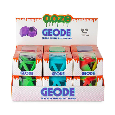 Ooze Geode Silicone & Glass Container Display - 12ct
