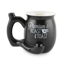 Load image into Gallery viewer, Roast And Toast Ceramic Mug - Matte Black Small Pipes