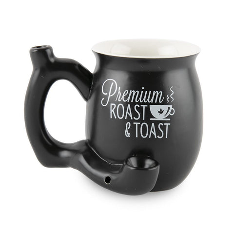 Roast and Toast Ceramic Mug - Matte Black - Small
