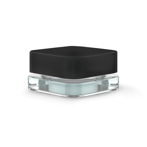 Qube Square Glass Jar - 5ml - Black Cap - 250ct