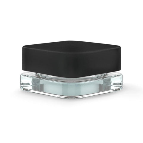 Qube Square Glass Jar - 9ml - Black Cap