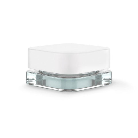 Qube Square Glass Jar - 5ml - White Cap - 250ct