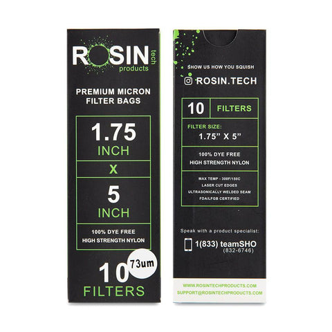 "RTP Rosin Filter Bags - 1.75"" x 5"" - 73 Micron - 10ct"