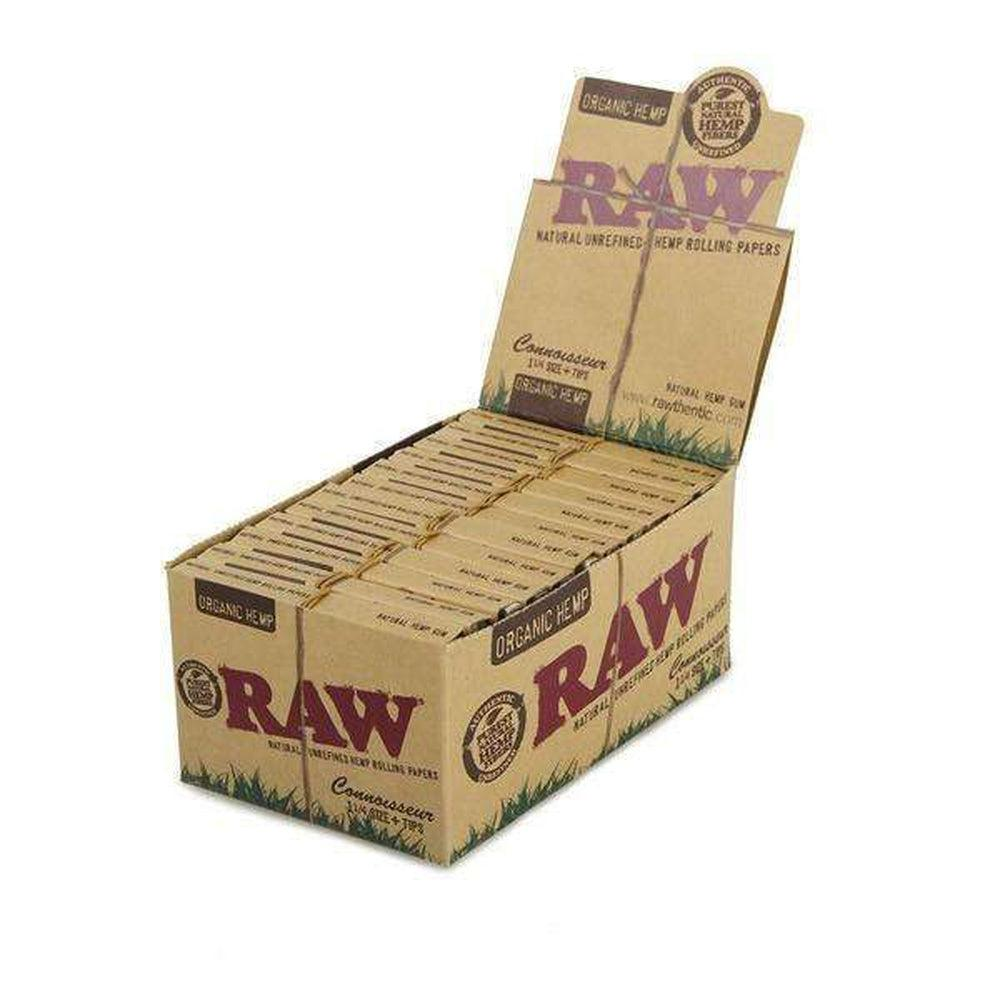 Raw Organic Hemp Connoisseur 1 1/4 + Tips - 24ct