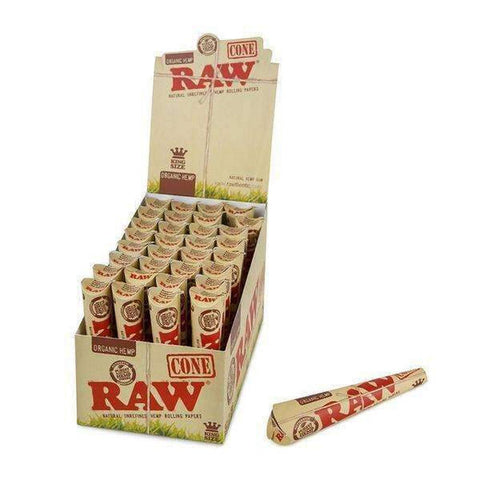 RAW Organic Hemp King Size Cones - 3pk - 32ct
