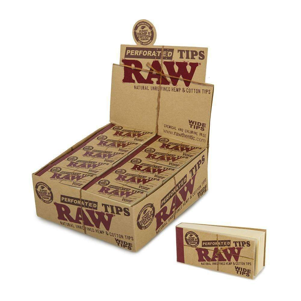 Raw Perforated Wide Tips Hemp & Cotton - 50ct