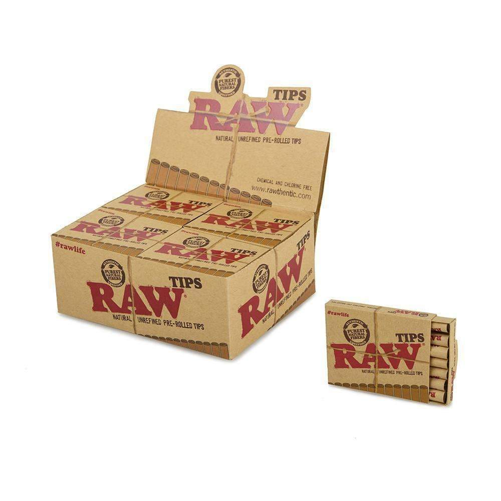 Raw Pre-Rolled Tips - 20ct