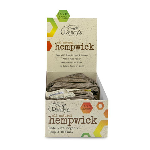 Randy's Hemp Wick - Large 12.5' - 20ct