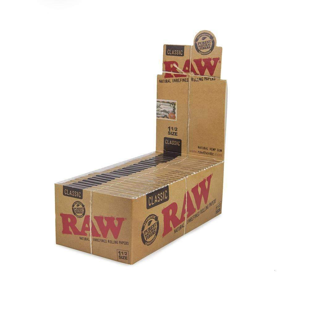 Raw Classic 1 1/2 - 25Ct Raw / Rolling Papers