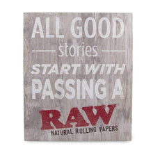 Load image into Gallery viewer, Raw Rustic Wood Sign - Good Stories Accessories