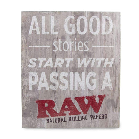 RAW Rustic Wood Sign - Good Stories