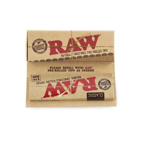RAW Masterpiece Classic 1 1/4 + Prerolled Tips - 24ct