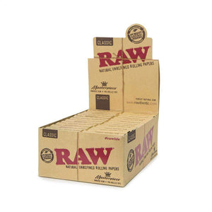 Raw Classic Masterpiece King Size Slim + Prerolled Tips - 24Ct Rolling Papers