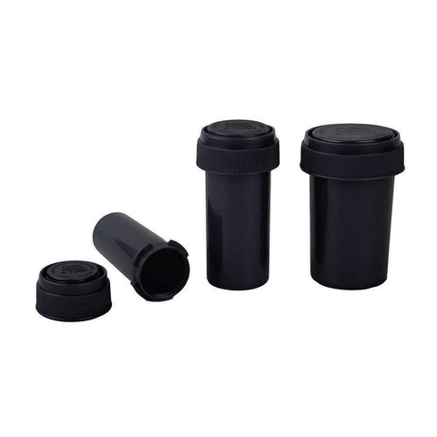 Loud Lock Pop Top Vials - Reversible - Child Resistant - Black