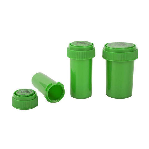 Loud Lock Pop Top Vials - Reversible - Child Resistant - Green