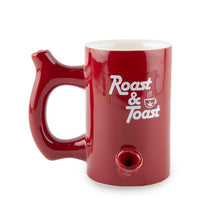 Load image into Gallery viewer, Roast And Toast Ceramic Mug - Red Large Pipes