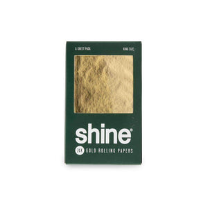 Shine 24K Gold King Size - 6 Sheet Pack Rolling Papers