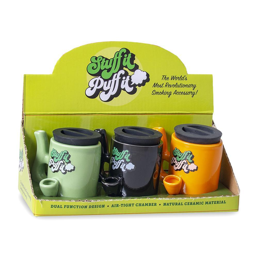 Stuff It Puff It Stash Mug Pipe - Assorted Colors - 3ct