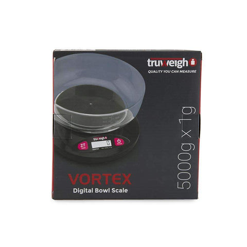 Truweigh Vortex Digital Bowl Scale - 5000g x 1g - Black
