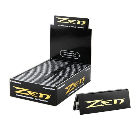 Zen Rolling Papers - 1 1/4 Black & Gold - 25ct