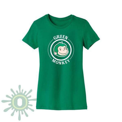 Green Monkey White Logo Women's T-Shirt