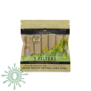 King Palm 5Pk Corn Husk Filters - 24Ct 10Mm Smoke Accessories