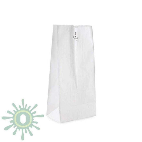 Paper Bag #4 - 500ct - White