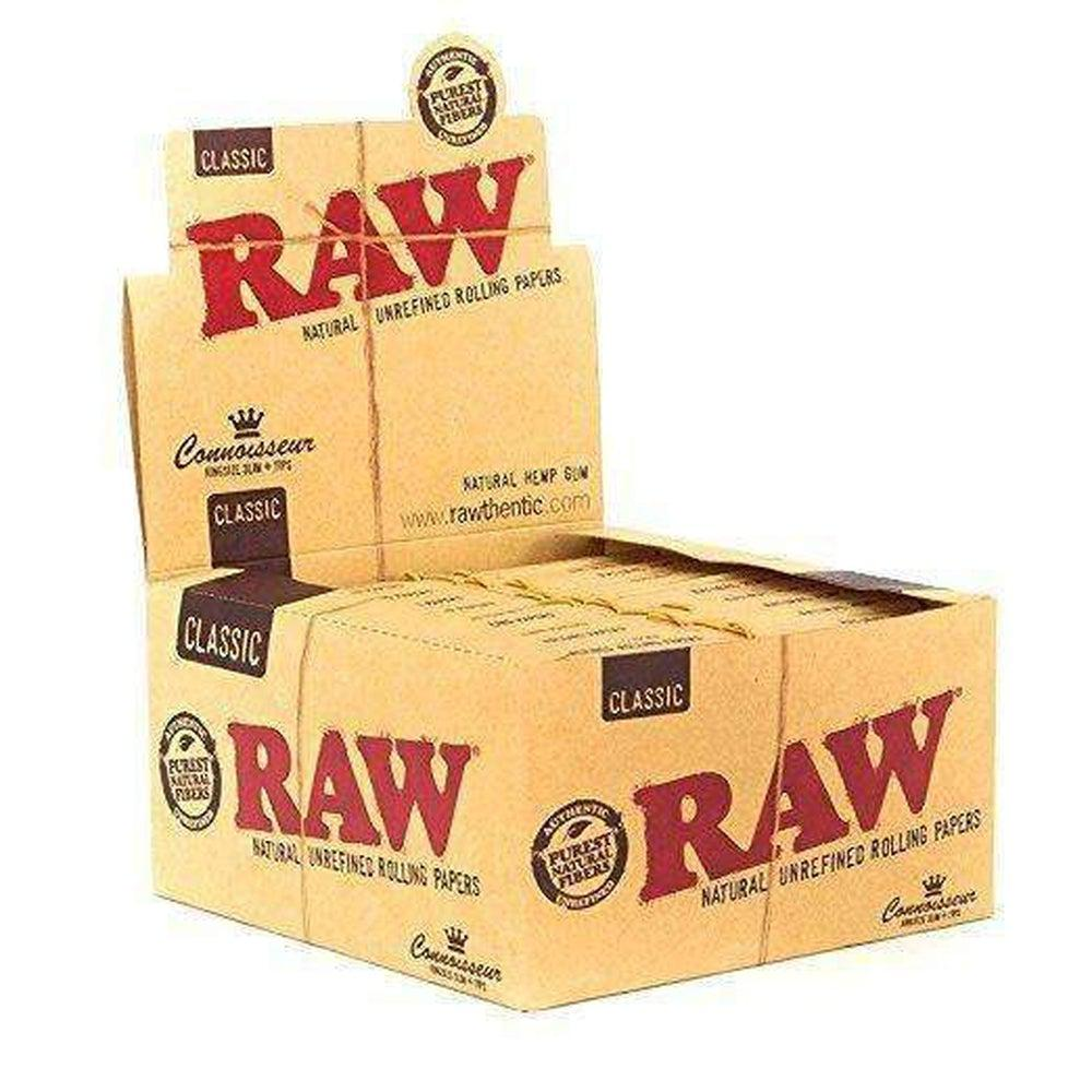 Raw Organic Hemp Connoisseur King Slim + Tips - 24ct