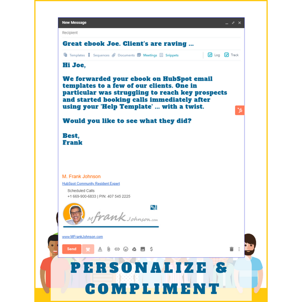 HubSpot Perfect One-to-One Email Template Example - Personalize & Compliment