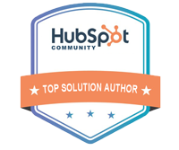 2019 HubSpot Top Solution Author Award - M. Frank Johnson