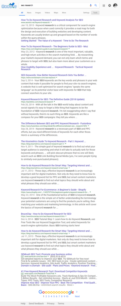 MFJLabs On-Page SEO - Google SERP (pre-2015)