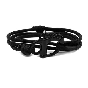 Rope Bracelet - Black Shackle