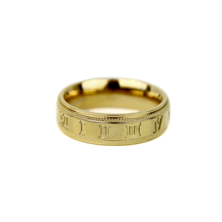 Roman Numeral Band - Gold