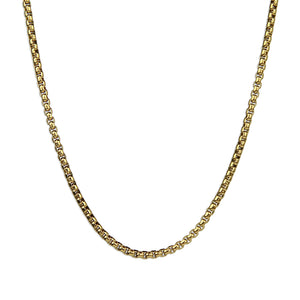 Box Chain Necklace - Gold 2.4mm