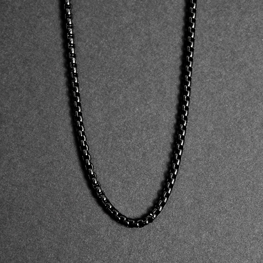 Box Chain Necklace - Black 3.5mm