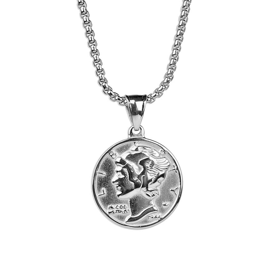 Liberty Coin Necklace - Silver
