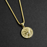 Liberty Coin Necklace - Gold