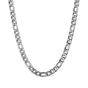 Figaro Chain Necklace - Silver 5mm
