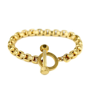 Thick Toggle Bracelet - Gold