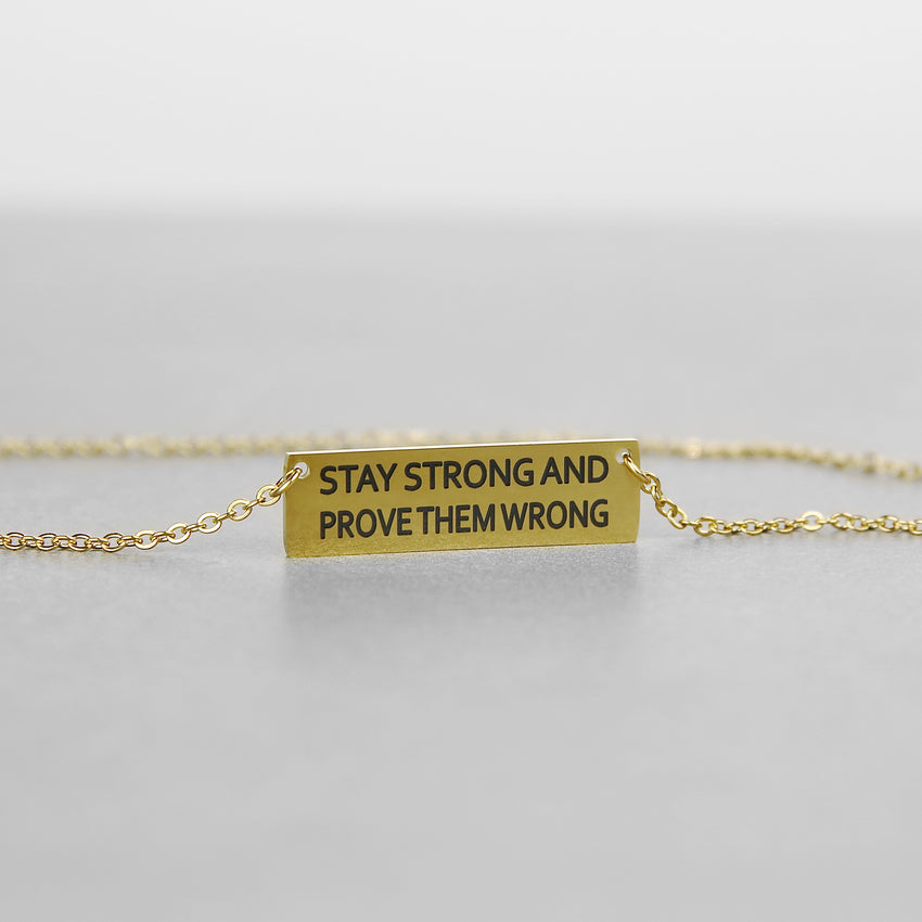 Inspirational Word Necklace