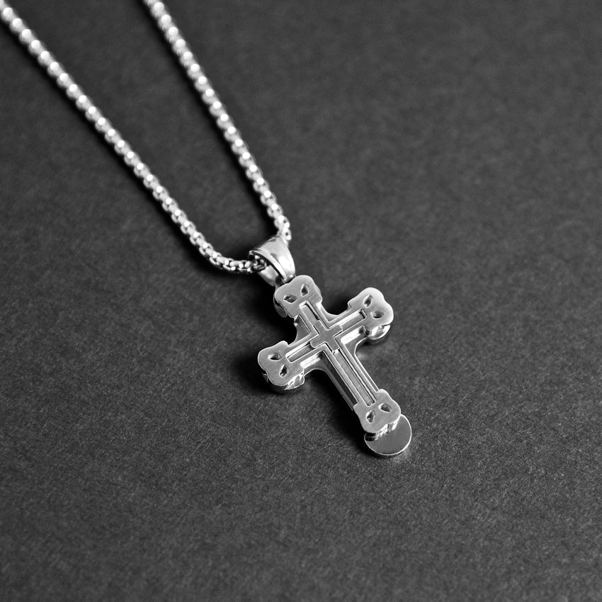Stacked Cross Necklace
