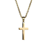 Modern Cross Necklace  - Gold