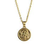 Small Guardian Angel Necklace - Gold