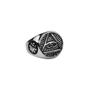 Eye of Providence Ring - Silver