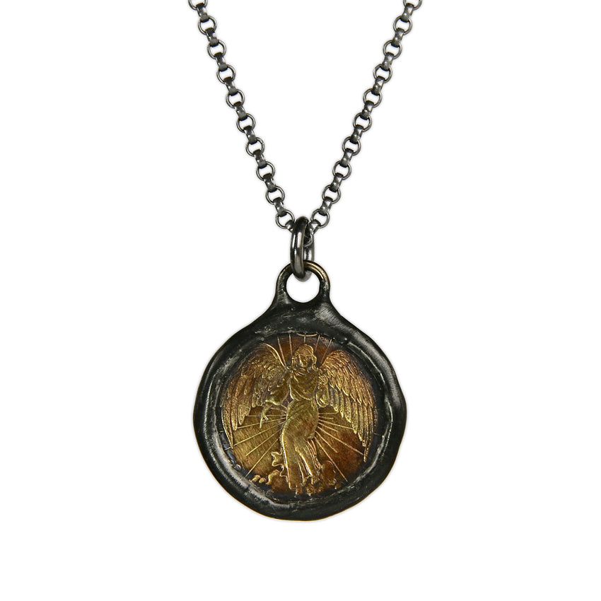 Guardian Angel Coin Necklace