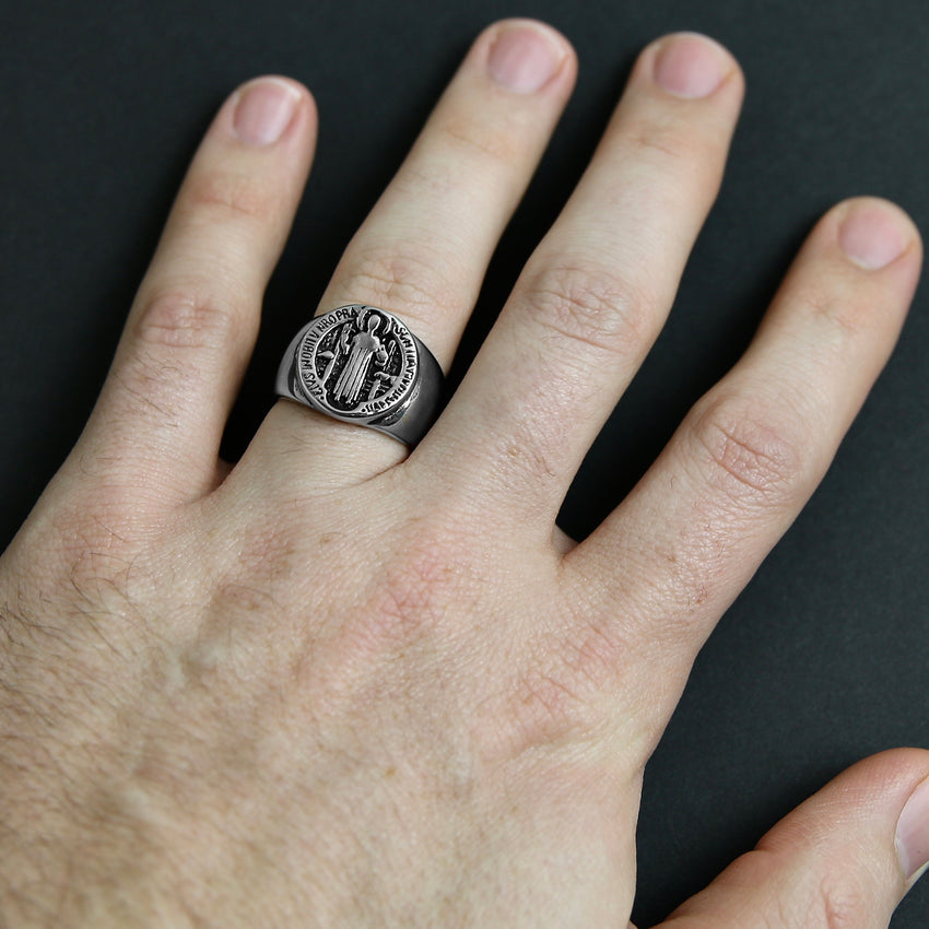 St Benedict Ring - Silver